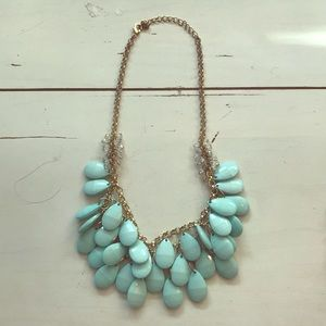 Jewelry - Statement Necklace- mint and gold
